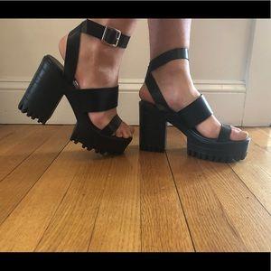 Public Desire Block Chunky Heel, Never worn!